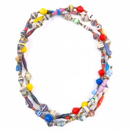 Necklace Beaded Paper Mache